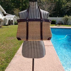 John Romaine Vintage Straw Bag